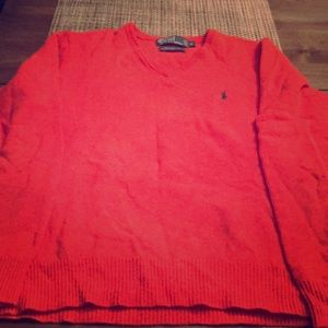 Polo Mens Lambswool V-neck Sweater